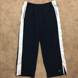 Women's Nike navy, white capri track pants-L12/14